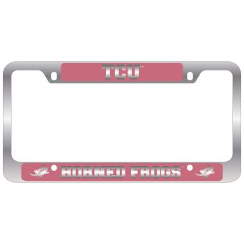 Texas Christian University -Metal License Plate Frame-Pink
