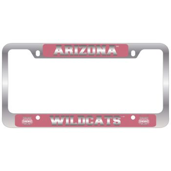 Arizona Wildcats -Metal License Plate Frame-Pink