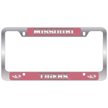 University of Missouri -Metal License Plate Frame-Pink