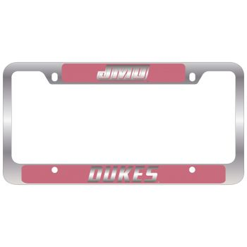 James Madison University-Metal License Plate Frame-Pink