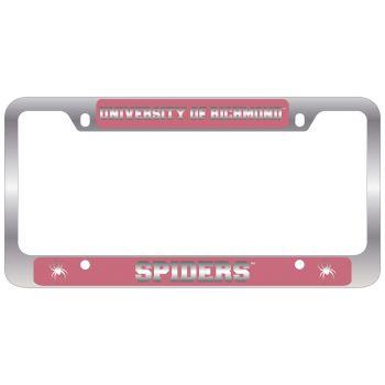 University of Richmond -Metal License Plate Frame-Pink