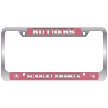 Rutgers University -Metal License Plate Frame-Pink