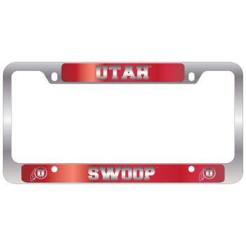 University of Utah-Metal License Plate Frame-Red