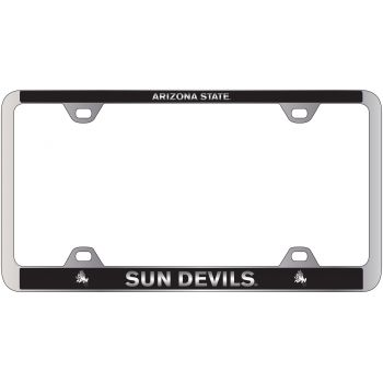 ASU Sun Devils -Metal License Plate Frame-Black