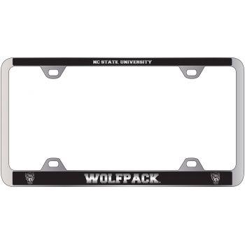 North Carolina State University -Metal License Plate Frame-Black