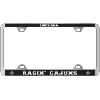 University of Louisiana at Lafayette-Metal License Plate Frame-Black