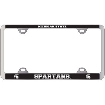 Michigan State University-Metal License Plate Frame-Black