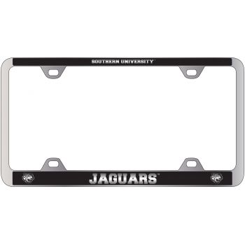 Southern University -Metal License Plate Frame-Black