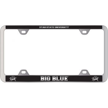 Utah State University -Metal License Plate Frame-Black