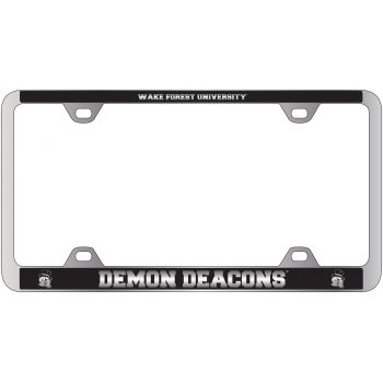 Wake Forest University -Metal License Plate Frame-Black