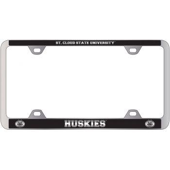 St. Cloud State University -Metal License Plate Frame-Black