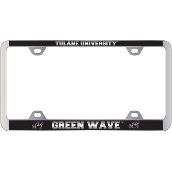 Tulane University -Metal License Plate Frame-Black