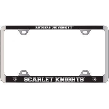 Rutgers University -Metal License Plate Frame-Black