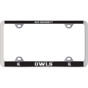 Rice University -Metal License Plate Frame-Black
