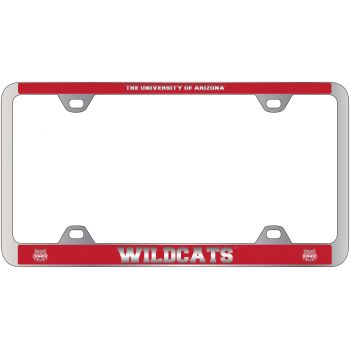 Arizona Wildcats -Metal License Plate Frame-Red