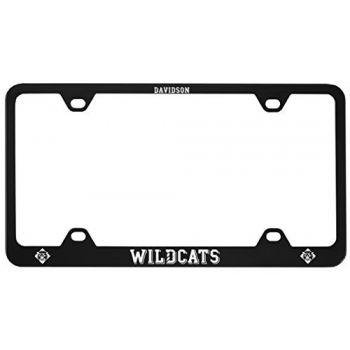 Davidson College-Metal License Plate Frame-Black