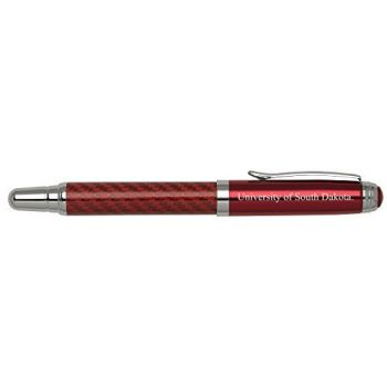 University of South Dakota - Carbon Fiber Rollerball Pen - Red