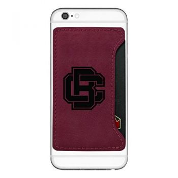 Bethune-Cookman University-Cell Phone Card Holder-Burgundy