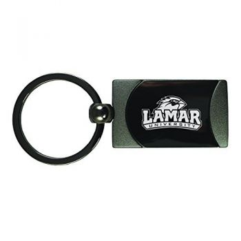 Lamar University-Two-Toned gunmetal Key Tag-Gunmetal