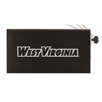 8000 mAh Portable Cell Phone Charger-West Virginia University -Black