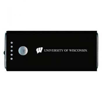 University of Wisconsin -Portable Cell Phone 5200 mAh Power Bank Charger -Black
