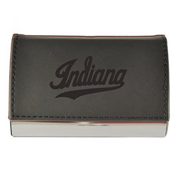 Velour Business Cardholder-University of Indianapolis-Black