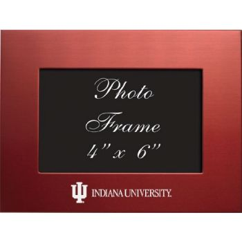 Indiana University - 4x6 Brushed Metal Picture Frame - Red