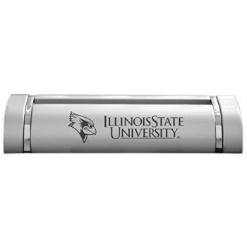 Illinois State University-Desk Business Card Holder -Silver