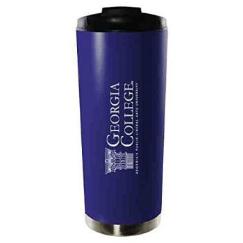 Georgia College & State University-16oz. Stainless Steel Vacuum Insulated Travel Mug Tumbler-Blue