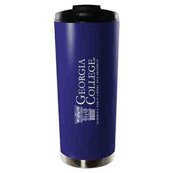 Georgia College & State University-16oz. Stainless Steel Vacuum Insulated Travel Mug Tumbler-Blue