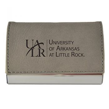 Velour Business Cardholder-University of Arkansas At Little Rock-Grey