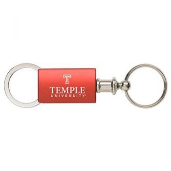 Temple University - Anodized Aluminum Valet Key Tag - Red