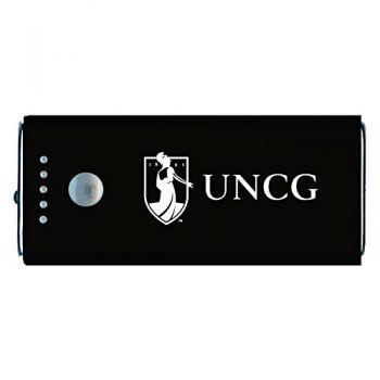 University of North Carolina at Greensboro-Portable Cell Phone 5200 mAh Power Bank Charger -Black
