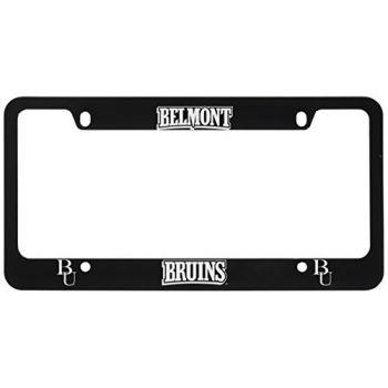 Belmont University-Metal License Plate Frame-Black
