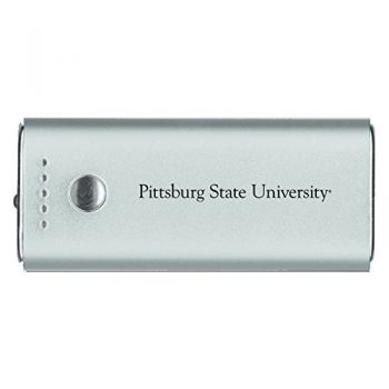 Pittsburg State University -Portable Cell Phone 5200 mAh Power Bank Charger -Silver