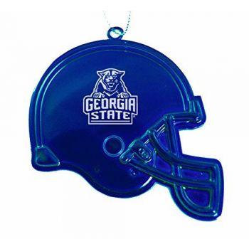 Georgia State University - Christmas Holiday Football Helmet Ornament - Blue