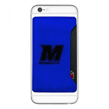 Monmouth University-Cell Phone Card Holder-Blue