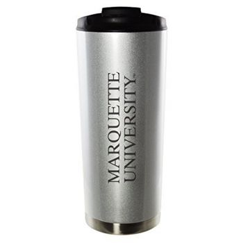 Marquette University-16oz. Stainless Steel Vacuum Insulated Travel Mug Tumbler-Silver
