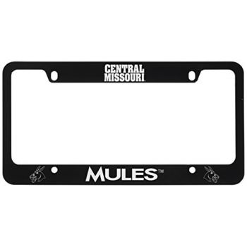 University of Central Missouri -Metal License Plate Frame-Black