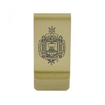 Northern Arizona University|Money Clip with Contemporary Metals Finish|Solid Brass|High Tension Clip to Securely Hold Cash, Cards and ID's|Silver