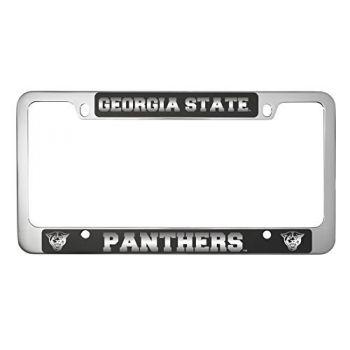 Georgia State University -Metal License Plate Frame-Black