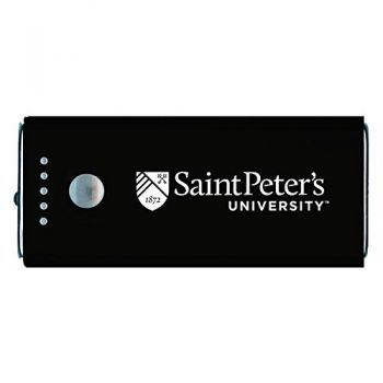 Saint Peter's University -Portable Cell Phone 5200 mAh Power Bank Charger -Black