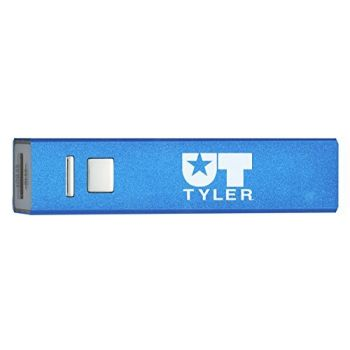 University of Texas at Tyler - Portable Cell Phone 2600 mAh Power Bank Charger - Blue