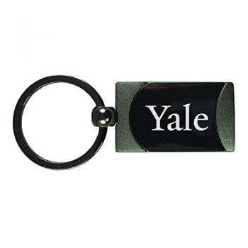 Yale University -Two-Toned Gun Metal Key Tag-Gunmetal
