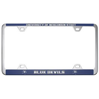University of Wisconsin-Stout-Metal License Plate Frame-Blue
