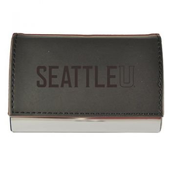 Velour Business Cardholder-Seattle University-Black