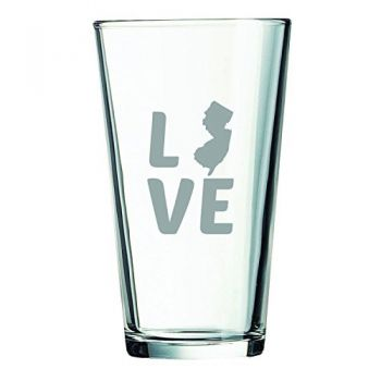16 oz Pint Glass  - New Jersey Love - New Jersey Love