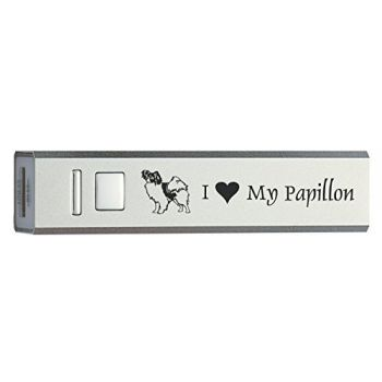Quick Charge Portable Power Bank 2600 mAh  - I Love My Papillon