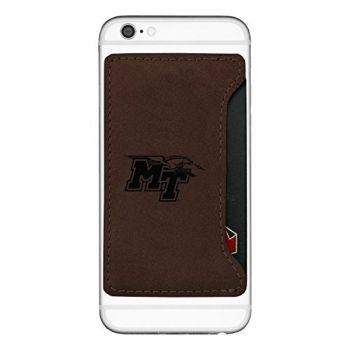 Middle Tennessee State University-Cell Phone Card Holder-Brown