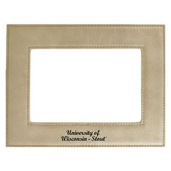 University of Wisconsin-Stout-Velour Picture Frame 4x6-Tan